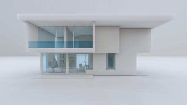 3d rendering of modern house illustration