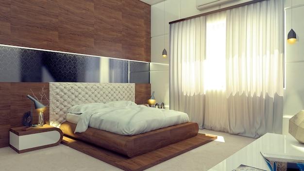 3d рендеринг интерьера современного дома