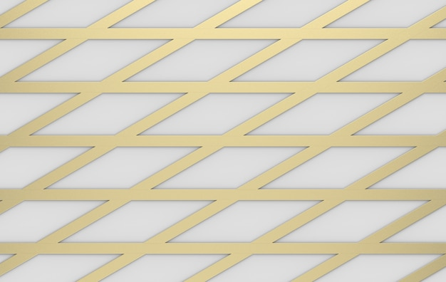 3d rendering. modern luxurious gold triangle grid line pattern design wall background.