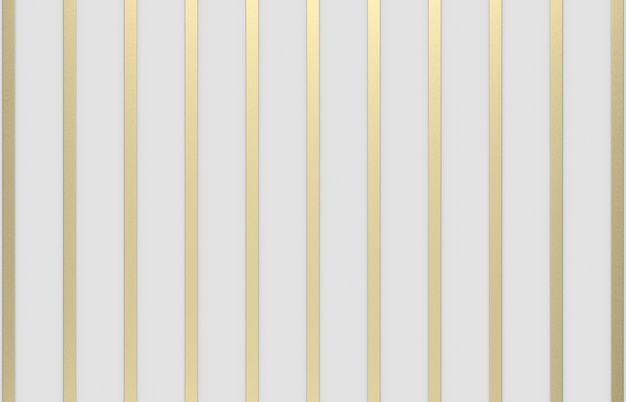 3d rendering. modern luxury gold vertical bar pattern on gray background.