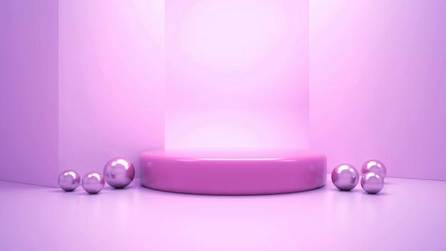 3d rendering of modern minimalist podium