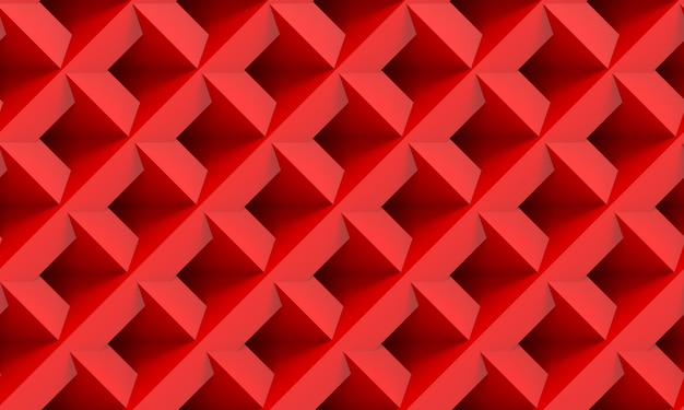 3d rendering. modern seamless red square grid art tile   wall texture background.