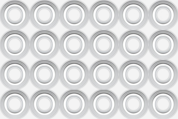 3d rendering. modern seamless white circular shape pattern wall design background.