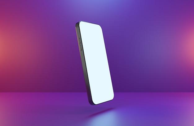 3d визуализация концепции современного смартфона