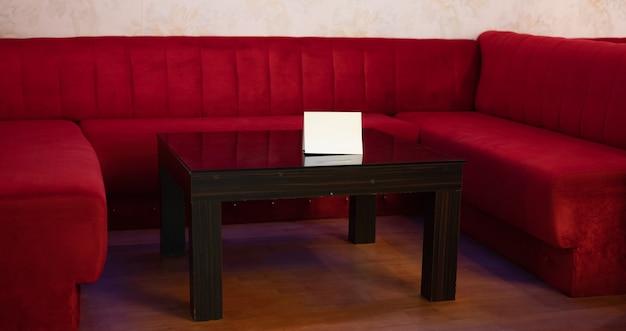 3d рендеринг современного дивана в гостиной