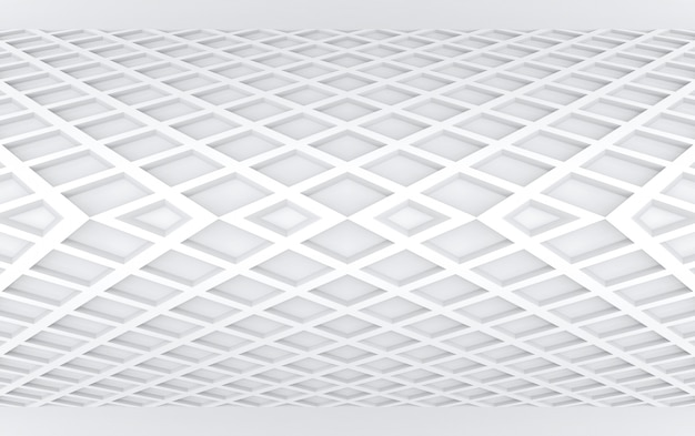 3d rendering. modern stripped gray square curve panel wall design background.