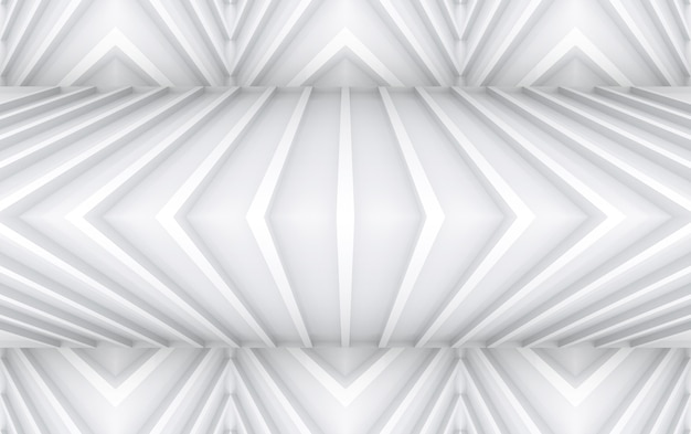3d rendering. modern stripped gray triangle curve panel wall design background.