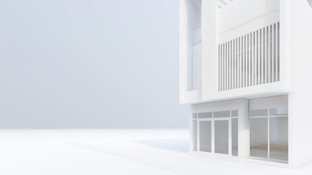 3d rendering of modern white house illustration