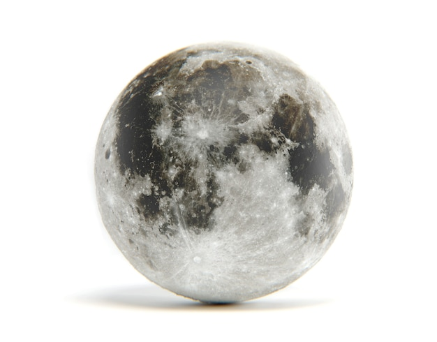 3d rendering of moon isolated. elements of this image are furnished by nasa