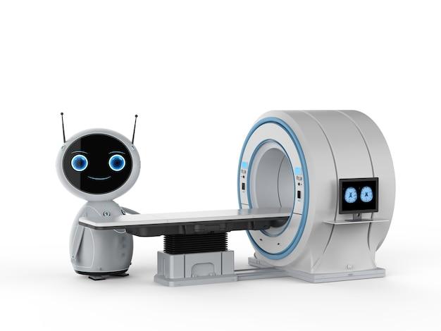 3d-рендеринг мрт-сканер под управлением искусственного интеллекта