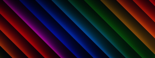 3d rendering of multicolored lines, geometric elements background
