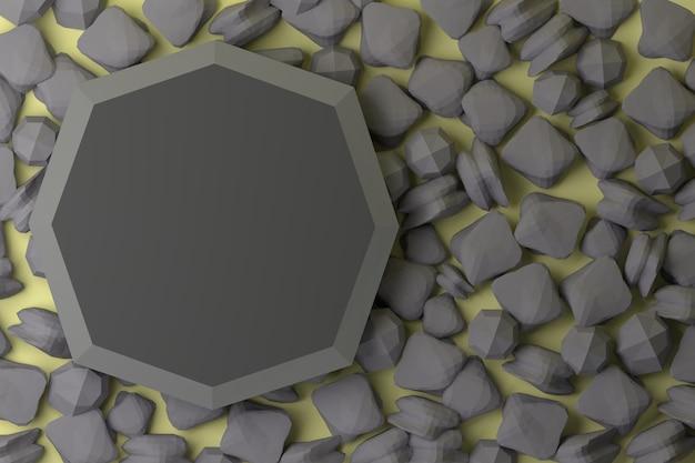 3d рендеринг натуральный камень продукт стенд скалы фон