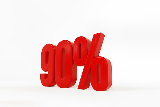 3d rendering of a ninety percent