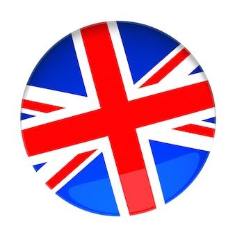 영국 국기가 있는 배지의 3d 렌더링