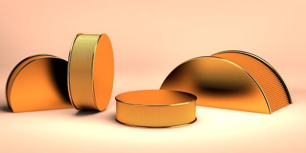 3d-рендеринг геометрического фона для коммерческой рекламы