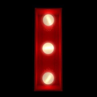 ショービジネスの看板に最適な光る文字の3dレンダリング