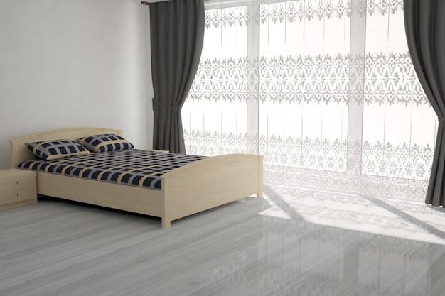 3d-рендеринг современной комнаты