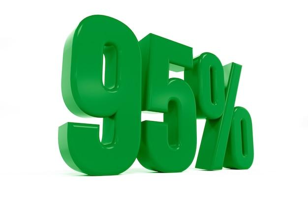 3d-рендеринг символа девяноста пяти процентов