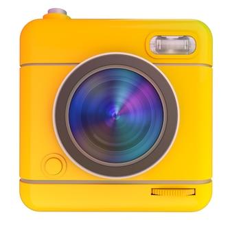 写真カメラアイコンの3dレンダリング