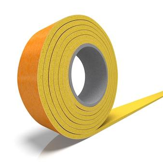 絶縁テープのロールの3dレンダリング
