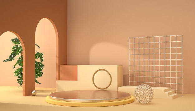3d-рендеринг абстрактной фоновой сцены для отображения продукта
