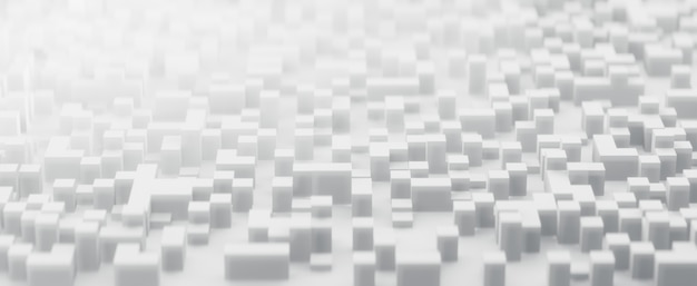 추상 이진의 3d 렌더링