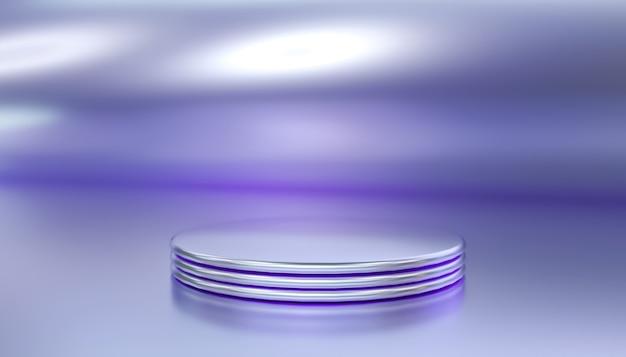 제품 표시를위한 추상적 인 원형 연단의 3d 렌더링