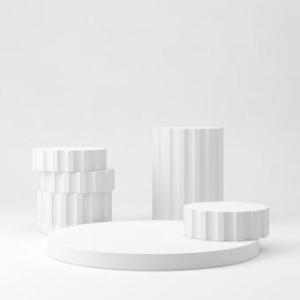제품 프리젠 테이션을위한 추상 구성의 3d 렌더링