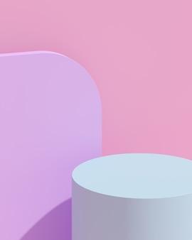 製品プレゼンテーション用の抽象的な構成の 3 d レンダリング