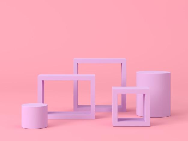 製品プレゼンテーションのための抽象的な構成の3dレンダリング