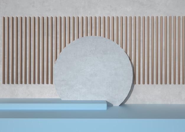 제품 표시에 대 한 추상적 인 기하학적 모양 배경의 3d 렌더링