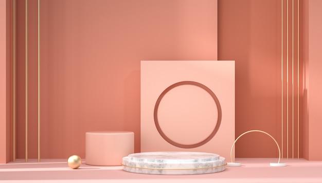 3d-рендеринг фоновой сцены с абстрактной геометрией для отображения продукта