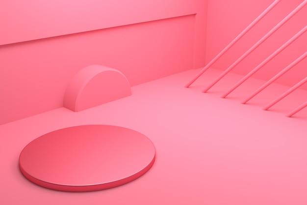 추상 최소한의 개념 배경 형상 모양 빈 연단의 3d 렌더링