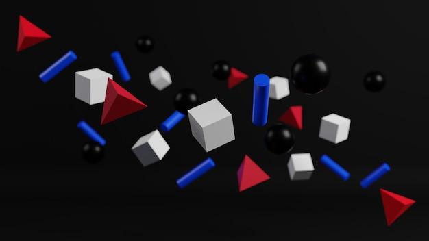 3d-рендеринг абстрактного современного геометрического фона