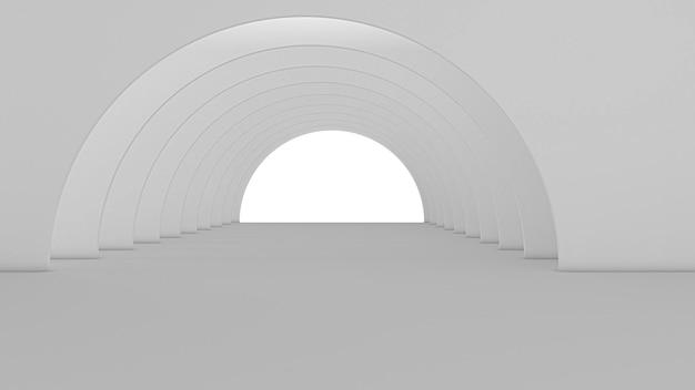 추상 터널 예술 디자인의 3d 렌더링