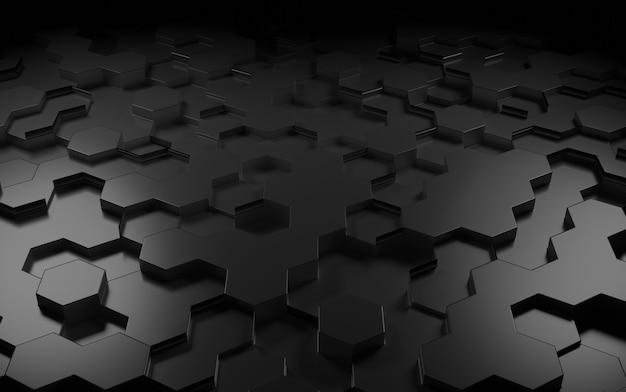 3d-рендеринг абстрактных обоев с геометрическими фигурами.