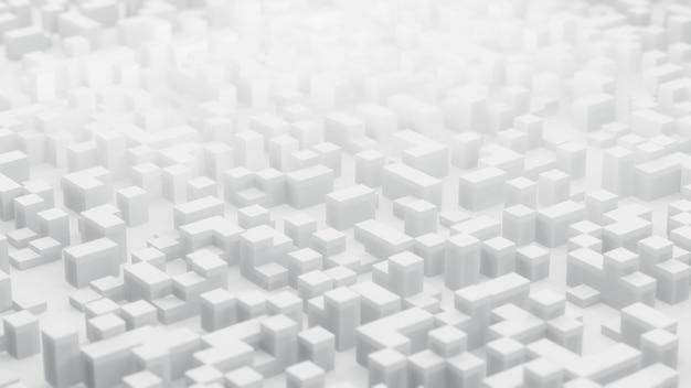 キューブを使用した抽象の3dレンダリング