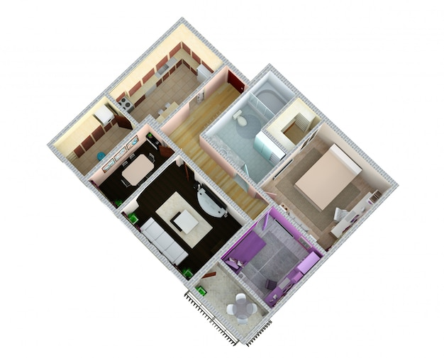3d рендеринг квартиры
