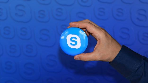 3d-рендеринг глянцевой кнопки национального флага аргентины на синем