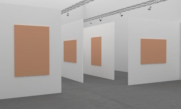 3d рендеринг выставки картинной галереи