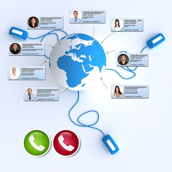 国際オンライン会議の3dレンダリング