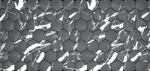 3d-рендеринг панелей из черного мрамора.