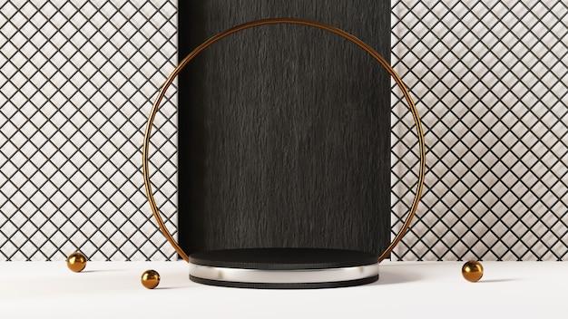 3d-рендеринг пустой фон продукта для фона моды и кремовых косметических украшений. современный пустой подиум фон для роскошного продукта.