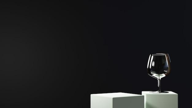 ファッションやクリーム色の化粧品の装飾を表示するための空白の製品の背景の3dレンダリング。高級品のモダンな表彰台の背景。