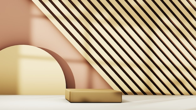 3d-рендеринг пустой фон продукта для отображения украшений моды и кремовой косметики. современный подиум фон для роскошного продукта.