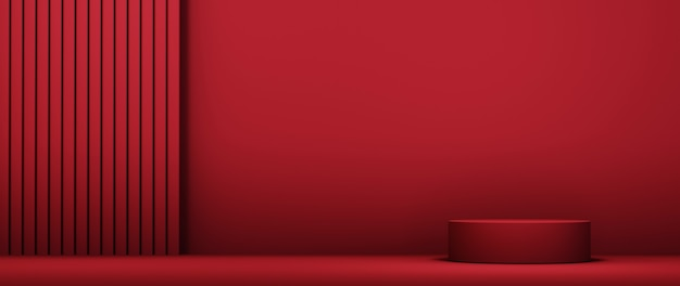 패션 및 크림 화장품 장식을 표시하기 위한 빈 제품 배경의 3d 렌더링. 고급 제품을 위한 현대적인 연단 배경입니다.