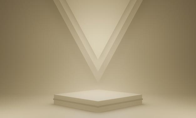 茶色の幾何学的なスタンドの3dレンダリング