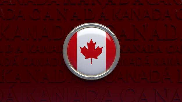 カナダの国旗の3dレンダリング