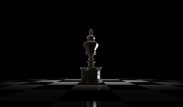 チェスの駒の3dレンダリング。白い背景で隔離