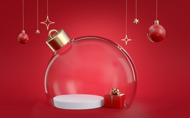 クリスマスの3dレンダリング